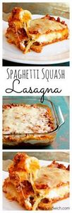 Spaghetti Squash Lasagna with Turk - 275 Spaghetti Squash Recipes - RecipePin.com