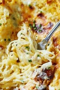 Baked Four Cheese Garlic Spaghetti - 275 Spaghetti Squash Recipes - RecipePin.com