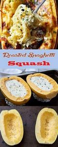 Roasted Spaghetti Squash - 275 Spaghetti Squash Recipes - RecipePin.com