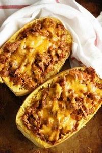 Barbecue Pulled Pork Spaghetti Squ - 275 Spaghetti Squash Recipes - RecipePin.com