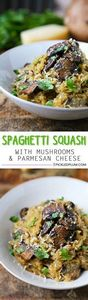 Baked Spaghetti Squash with Mushro - 275 Spaghetti Squash Recipes - RecipePin.com