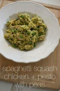 Spaghetti squash chicken and pesto - 275 Spaghetti Squash Recipes - RecipePin.com