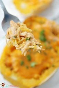 Buffalo Chicken Spaghetti Squash . - 275 Spaghetti Squash Recipes - RecipePin.com