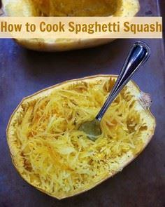 How to Cook Spaghetti Squash | Tea - 275 Spaghetti Squash Recipes - RecipePin.com