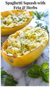 Spaghetti Squash with Feta and Her - 275 Spaghetti Squash Recipes - RecipePin.com