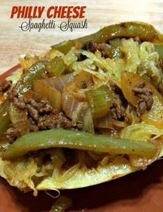 Philly Cheesesteak Stuffed Spaghet - 275 Spaghetti Squash Recipes - RecipePin.com