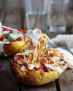 Roasted Garlic Spaghetti Squash La - 275 Spaghetti Squash Recipes - RecipePin.com