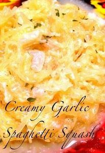 Creamy Garlic Spaghetti Squash - 275 Spaghetti Squash Recipes - RecipePin.com