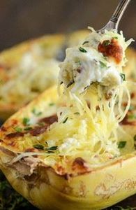 Four Cheese Chicken Stuffed Spaghe - 275 Spaghetti Squash Recipes - RecipePin.com
