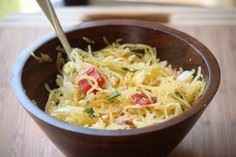 Skinny Spaghetti with olive oil, p - 275 Spaghetti Squash Recipes - RecipePin.com