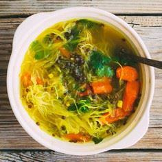 Squash Noodle Soup with Healing Tu - 275 Spaghetti Squash Recipes - RecipePin.com