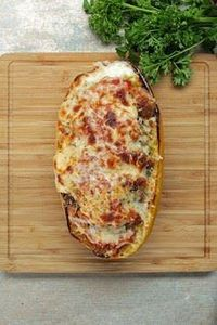 Chicken Parm-Stuffed Spaghetti Squ - 275 Spaghetti Squash Recipes - RecipePin.com