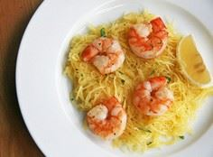 Roasted shrimp over spaghetti squa - 275 Spaghetti Squash Recipes - RecipePin.com