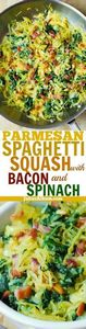 Garlic Spaghetti Squash, Spinach,  - 275 Spaghetti Squash Recipes - RecipePin.com
