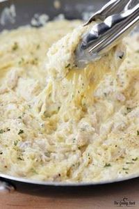 Chicken Alfredo Spaghetti Squash | - 275 Spaghetti Squash Recipes - RecipePin.com