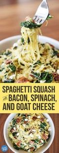 A spaghetti squash and bacon dish  - 275 Spaghetti Squash Recipes - RecipePin.com