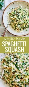 Garlic Spaghetti Squash with Herbs - 275 Spaghetti Squash Recipes - RecipePin.com
