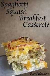 Spaghetti Squash Breakfast Cassero - 275 Spaghetti Squash Recipes - RecipePin.com
