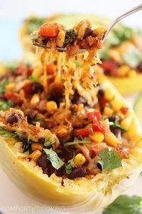 Southwestern Stuffed Spaghetti Squ - 275 Spaghetti Squash Recipes - RecipePin.com