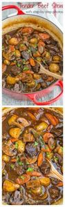 Beef Stew. Ok, yum! The beef is so - 120 Delicious Stew Recipes - RecipePin.com