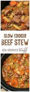 Slow Cooker Beef Stew recipe - htt - 120 Delicious Stew Recipes - RecipePin.com