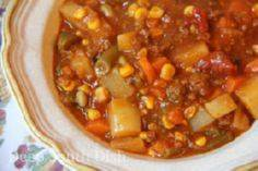This tastes like home comfort to me. Especially served with saltine crackers or cornbread. Deep South Dish: Ground Beef Hobo Stew  - 120 Delicious Stew Recipes - RecipePin.com