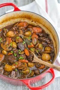 The beef is so tender and just mel - 120 Delicious Stew Recipes - RecipePin.com