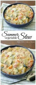 Summer Vegetable Stew - Butter Wit - 120 Delicious Stew Recipes - RecipePin.com