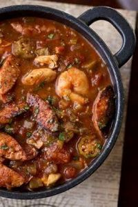 """Gumbo-laya"" Stew with Spicy Sausa - 120 Delicious Stew Recipes - RecipePin.com"