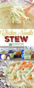 Thick and creamy chicken noodle st - 120 Delicious Stew Recipes - RecipePin.com