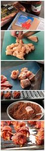 Sweet Bacon Wrapped Chicken Bites - 300 Tailgating Recipes - RecipePin.com