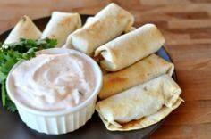 Baked Southwest Egg Rolls with Chi - 300 Tailgating Recipes - RecipePin.com
