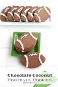 Chocolate Coconut Football Cookies - 300 Tailgating Recipes - RecipePin.com