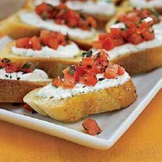 Cheese-and-Tomato Toasts #recipe # - 300 Tailgating Recipes - RecipePin.com
