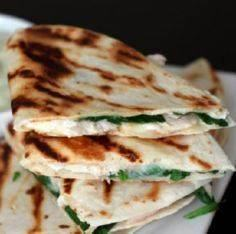 Chicken, Spinach, Cheese Quesadill - 300 Tailgating Recipes - RecipePin.com