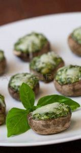 Spinach Souffle Stuffed Mushrooms - 300 Tailgating Recipes - RecipePin.com