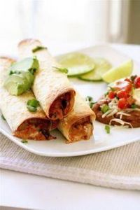 baked bean taquitos - 300 Tailgating Recipes - RecipePin.com