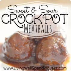 Sweet & Sour Crockpot Meatball - 300 Tailgating Recipes - RecipePin.com