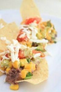 Clean Eating Layered Bean Dip - 300 Tailgating Recipes - RecipePin.com