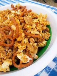 sweet and salty party mix - 300 Tailgating Recipes - RecipePin.com