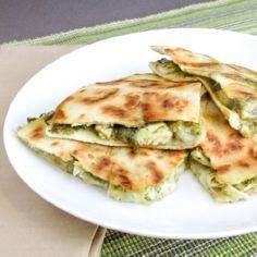 Another pinner says, Made this for dinner and it was EXCELLENT! Chicken artichoke pesto quesadilla. - 300 Tailgating Recipes - RecipePin.com