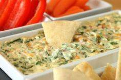hot four cheese spin dip - 300 Tailgating Recipes - RecipePin.com