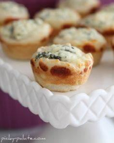Baked spinach dip mini bread bowls - 300 Tailgating Recipes - RecipePin.com