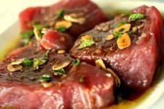 Tuna Steak marinated in Balsamic V - 400 Tasty Tuna Recipes - RecipePin.com