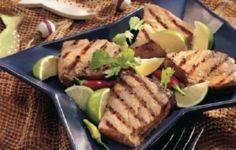 Grilled Ginger-Lime Tuna Steaks Re - 400 Tasty Tuna Recipes - RecipePin.com