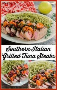 Southern Italian Grilled Tuna topp - 400 Tasty Tuna Recipes - RecipePin.com
