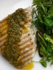 Grilled Tuna Steaks with Chimichur - 400 Tasty Tuna Recipes - RecipePin.com