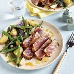 Maple and Mustard Seared Tuna Stea - 400 Tasty Tuna Recipes - RecipePin.com