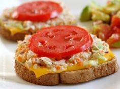 The Skinny Tuna Melt - Classic com - 400 Tasty Tuna Recipes - RecipePin.com