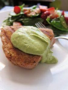 Tuna with green aioli - 400 Tasty Tuna Recipes - RecipePin.com